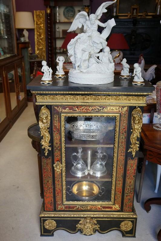Móvel Vitrine Napoleão III estilo Boulle