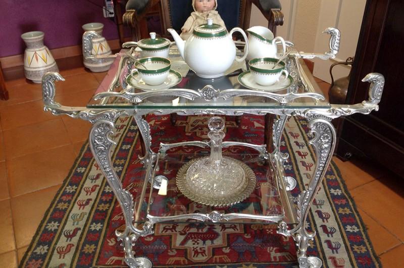 Silver-plated Tea Trolley