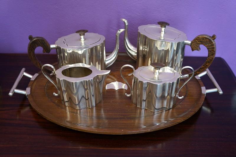 A Portuguese Silver Tea and Coffee Set